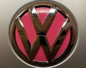 Volkswagen VW Emblem Color Vinyl Decal - Many Colors!