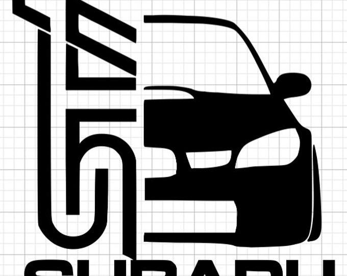 Subaru STI Vinyl Decal
