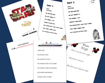 PRINTABLE Disney Fantasy Cruise Journal for Kids - STAR WARS