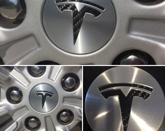 "Tesla Model S / X / 3 Wheel Center Cap Logo ""T"" Decals"