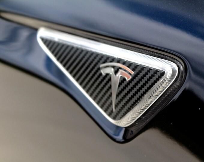 Tesla Model S / X Side Turn Signal Indicator Wrap Chrome Delete