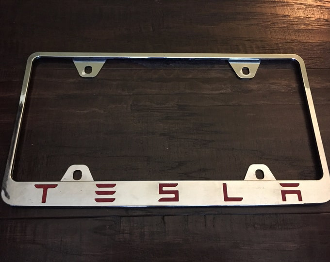 Decal Letters for TESLA License Plate Frame