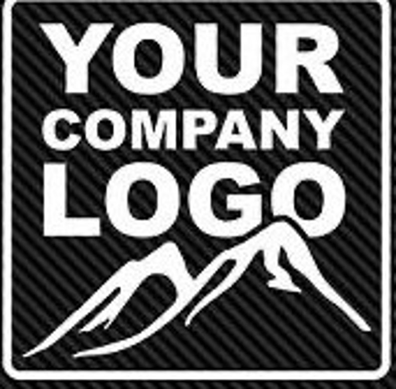 Custom vinyl decals  logo window decal image 0