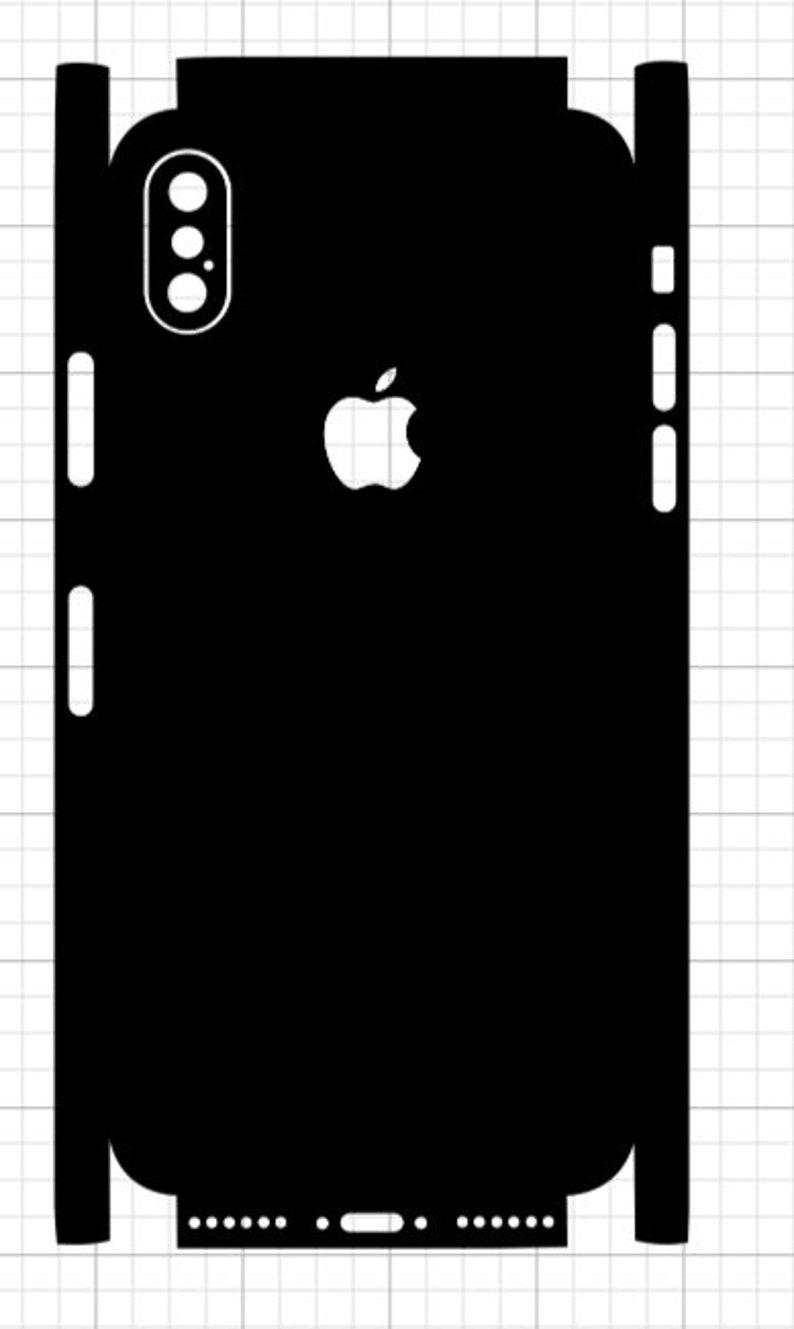 iPhone 10 X Skin SVG Template image 0