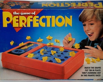 Perfection board game replacement pieces - Milton Bradley Games - multiple eras - DARK YELLOW ORANGE