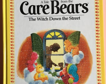 1983 A Tale From The Care Bears: The Witch Down The Street - hard cover - children's story book - Parker Brothers
