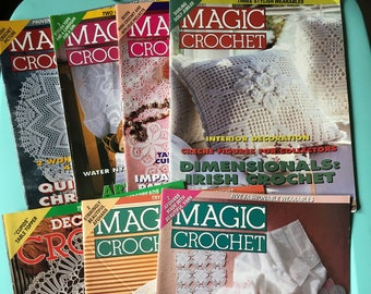 Magic Crochet vintage craft magazine back issues from 1996 & 1997 - crafting - craft projects