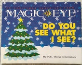 1994 Magic Eye quot Do You See What I See quot 3D Christmas Illusions Book by N.E. Thing Enterprises