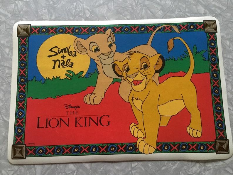Vintage 90/'s Disney vinyl placemats
