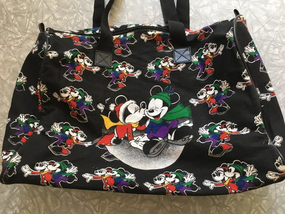 16e0117b42b Vintage 90 s Mickey   Minnie Mouse canvas duffle tote bag   Etsy