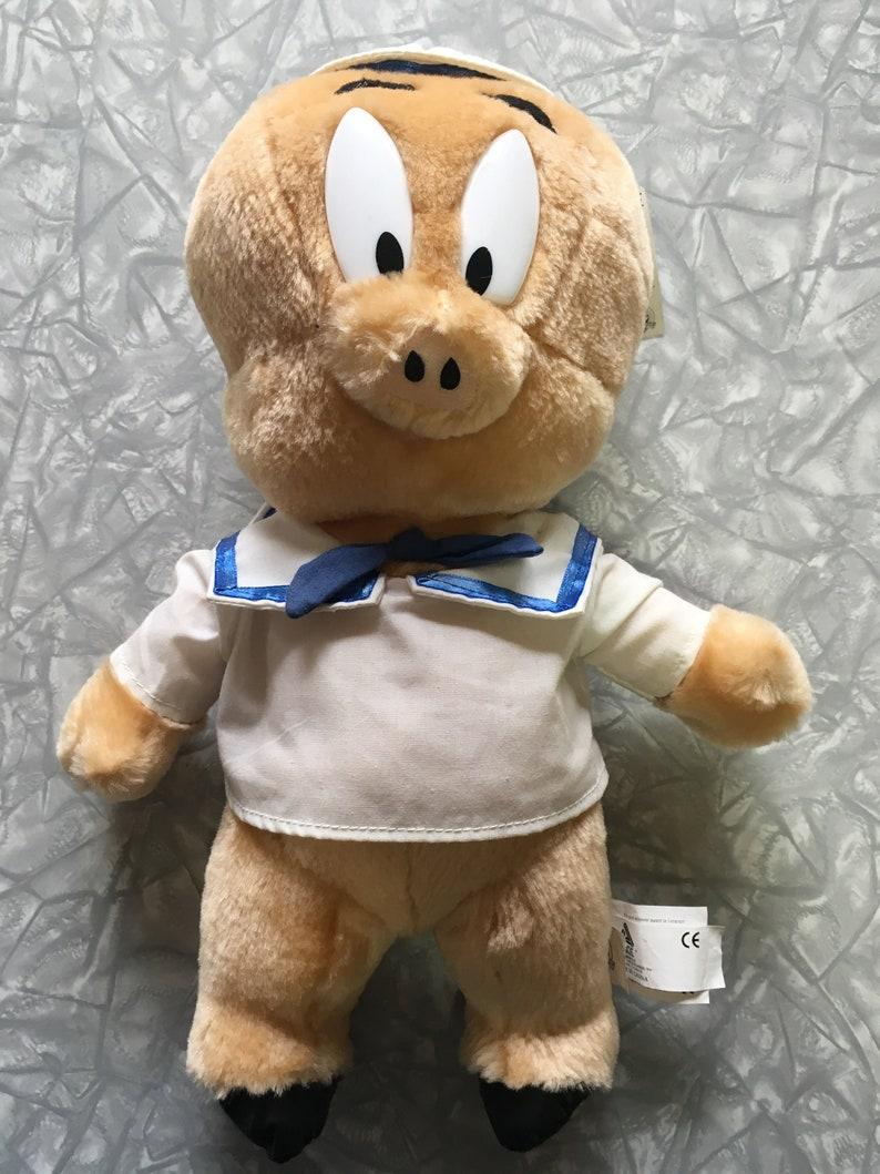 NWT 1998 Looney Tunes Porky Pig Sailor Plush Stuffed Animal
