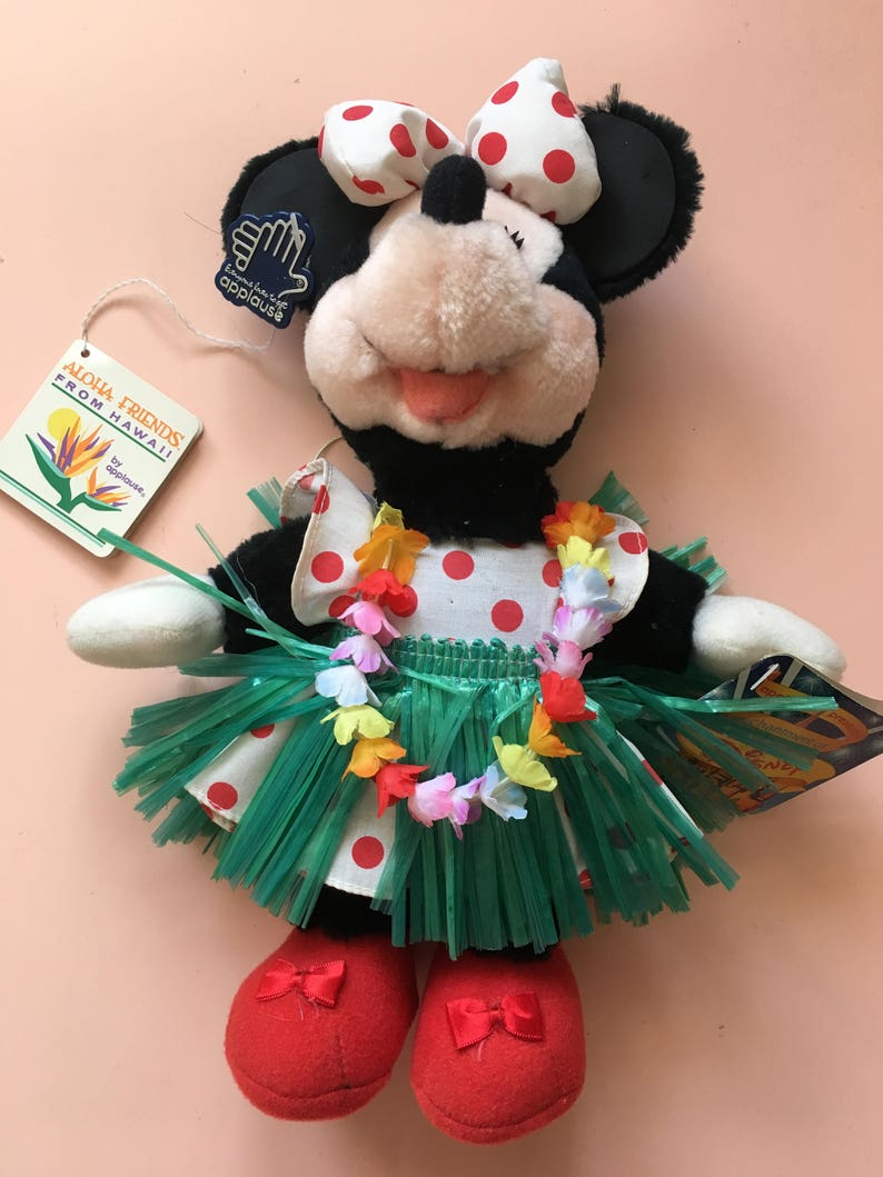 1988 Applause Minnie Mouse Aloha Friends from | Etsy