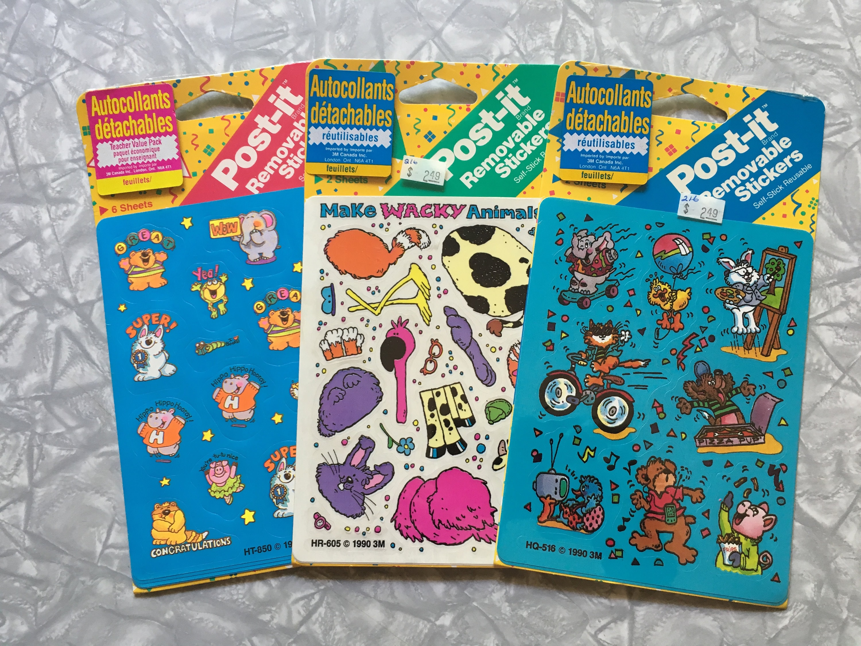 Vintage 1990 Post-It Brand Removeable stickers new in pack