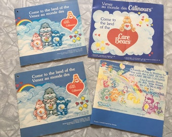 Vintage 1980's Care Bears Catalogue Inserts - Booklet - Pamphlets - Kenner - American Greetings - eighties - trend toys - trend plush