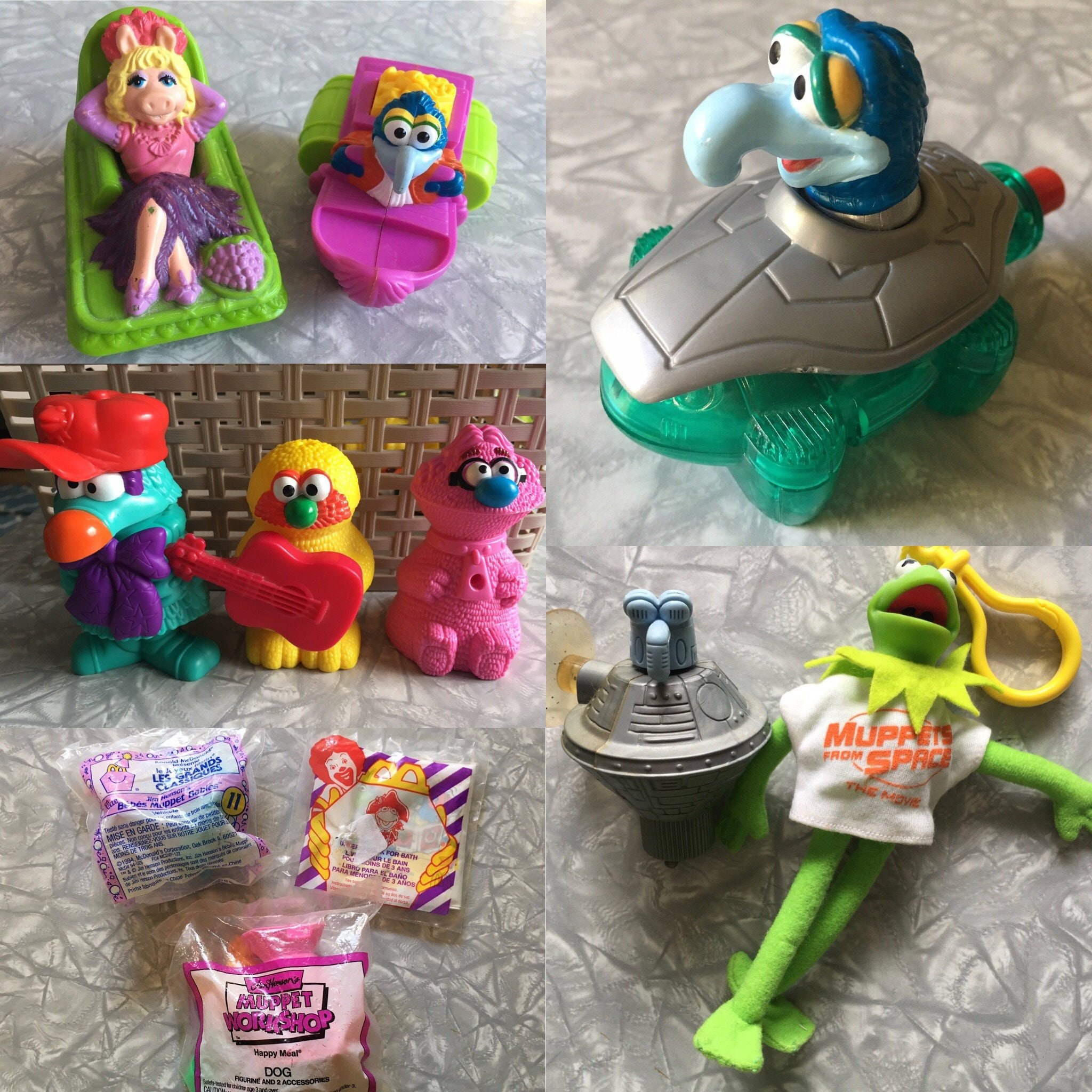 1990's Jim Henson Muppet McDonald's Happy Meal Toys