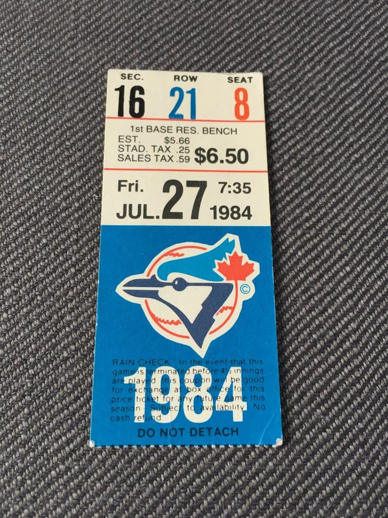 1980's Toronto Blue Jays ticket stubs - vintage tickets - used tickets -  MLB - Major League Baseball - Canada