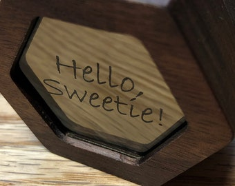 Hello Sweetie Doctor Who  Engagement Ring / Keepsake Box