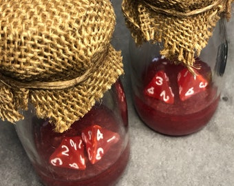 Healing Potion Bottle 5e Pearlescent Red with Burlap Wrap