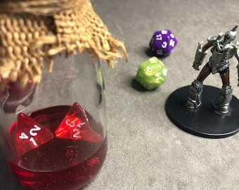 Healing Potion Bottle 5e Translucent Red with Burlap Wrap