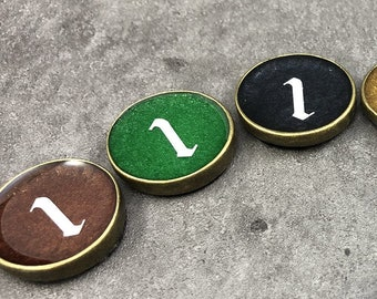 Monster Markers - Flat Metal Game Tokens (Set of 10)