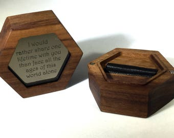 I Would Rather Share One Lifetime With You Engagement Ring / Keepsake Box