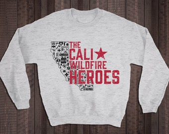 31a7cd7c9 California Wildfire Heroes, 35% Donated to First Responders, Firefighter,  EMT, Police Officer Clothing