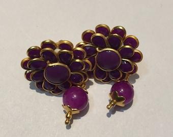 Jayshree handicraft Indian Handmade lavender Colour Beaded Earing Gift Jewellery Wedding Jewellery