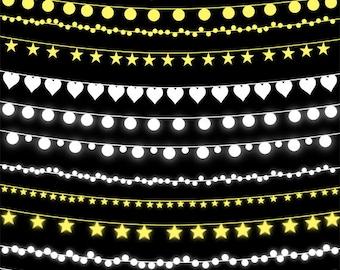 String Lights Clip Art Wedding Invitation Fairy Illustration PNG