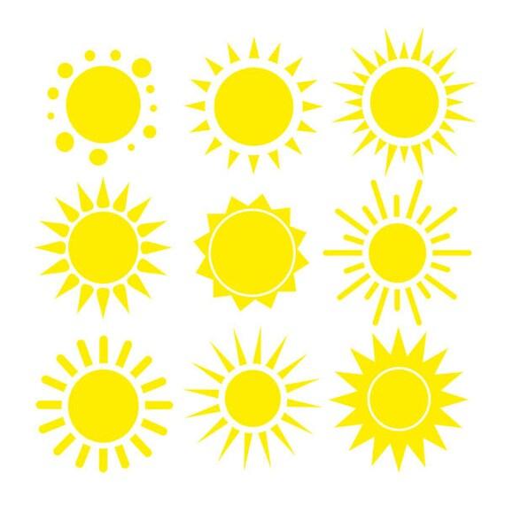 Sun Clip Art Set