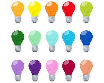 Light Bulb Set, Electric, Colorful, Idea, Bright, Energy, Illustration