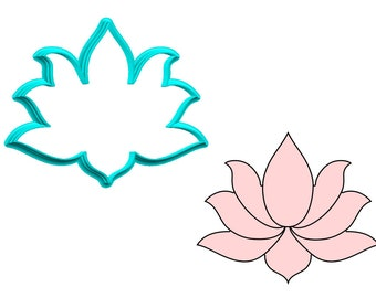Lotus Cookie Cutter Etsy