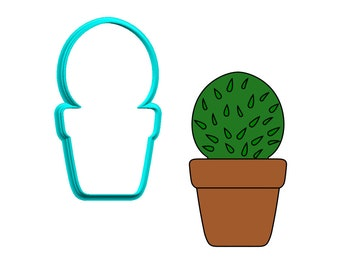 Cactus in Pot #1 Cookie Cutter