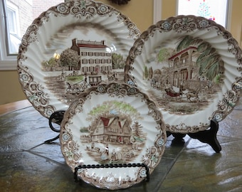 Vintage Johnson Brothers  Heritage Hall Ironstone Transferware, made in Staffordshire England and Dishwasher Safe