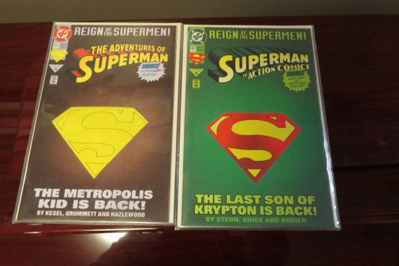 Vintage Dc The Reign Of The Supermen Comic Books Etsy