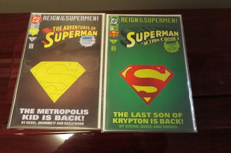 Vintage DC The Reign of the Supermen, Comic Books