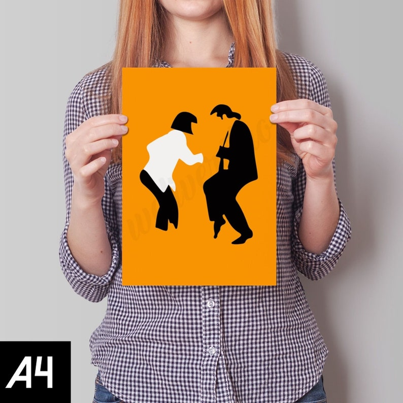Pulp Fiction Orange Dancing Retro FREE Shipping GBR A1 A2 A3 A4