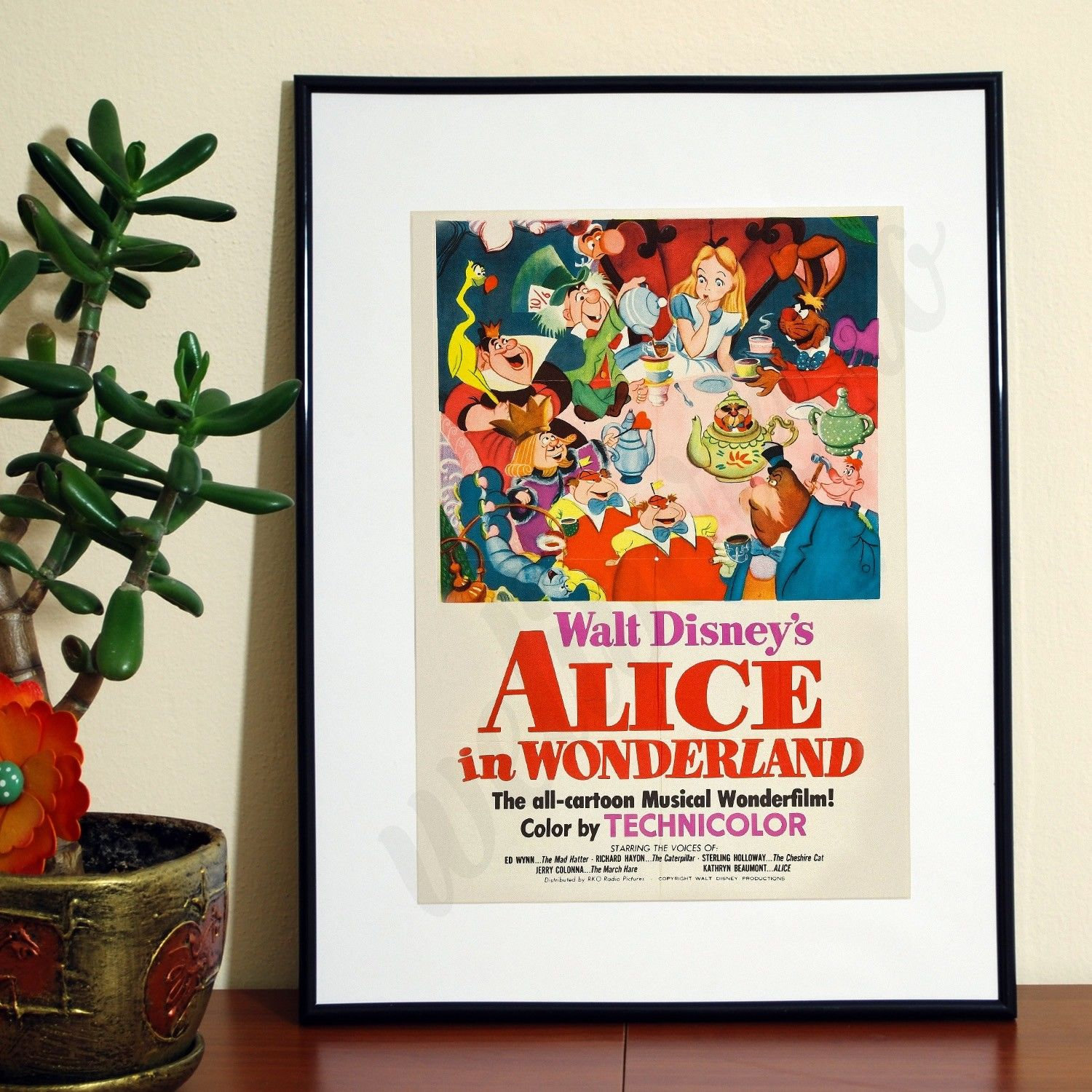 A3 A4 FREE Shipping Luxury Print Alice in Wonderland WTR303