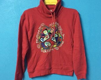 6459f50aea3 Rare!!vintage 90s jiro sweatshirt embroidery big logo hip hop swag size M