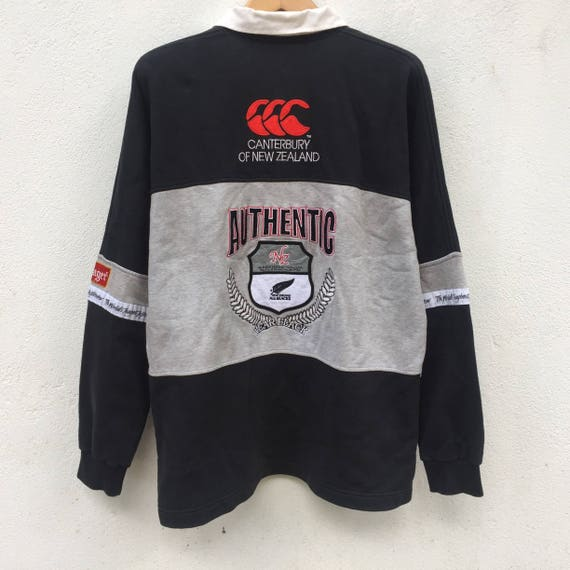sweatshirt vintage all steinlager size black L Rare 90s embroidery big logo zealand new TdwZSdq0