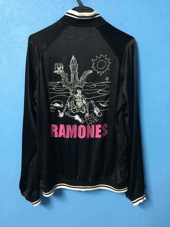 Rare size embroidery S rayon jacket X 90s sukajan hey glamour live hysteric vintage loco gaba souvenir ramones Mega gaba 1aqdxf1