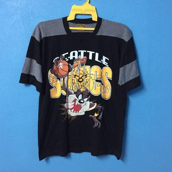 rarevintage 90s seattle sonic shirt nice design size L  7b3f8e1ea