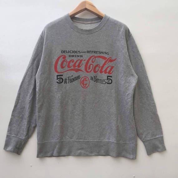 Rare!!vintage coca cola coke sweatshirt big logo size L