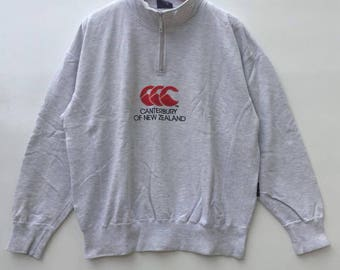 Rare!!vintage canterbury of new zealand sweatshirt big logo size L