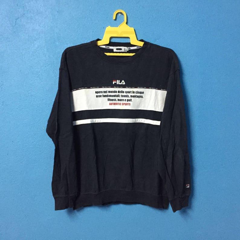 80c72467afe3 Rarevintage 90s fila sport sweatshirt big logo | Etsy