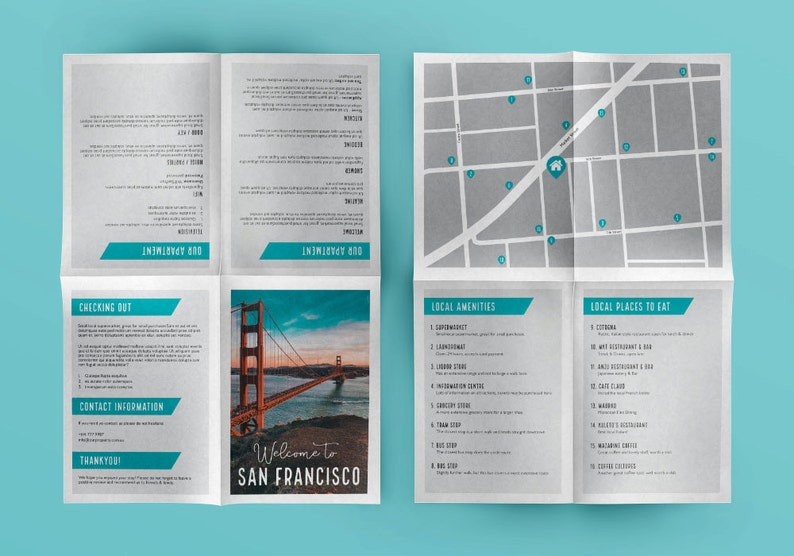 AirBnB Host Welcome Letter Booklet - AirBnB Guide - VRBO Host Welcome  booklet - Holiday home information booklet