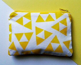Hand Printed Zelda Triforce Triangle Coin Purse