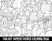 People Who Have Favourited Art Supplies Doodle Coloring Page