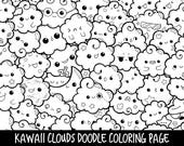 People Who Have Favourited Clouds Doodle Coloring Page Printable