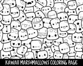People Who Have Favourited Marshmallows Doodle Coloring Page