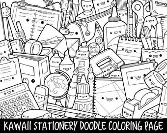 Popsicle Doodle Coloring Page Printable Cute/Kawaii Coloring | Etsy